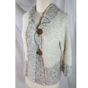 Free People Toggle Button Sweater sz M Hoodie